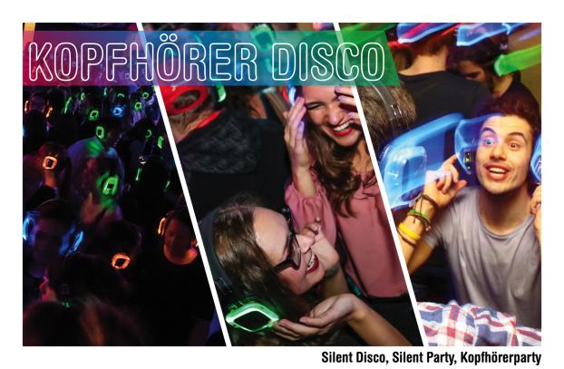 Silent Disco, Kopfhörerparty, Silent Party, Silent Disco Events, Silent Disco mieten, Silent Party Equipment, Silent Disco Equipment, Silent Disco Kopfhörer, Silent Party Kosten, Silent Disco leihen