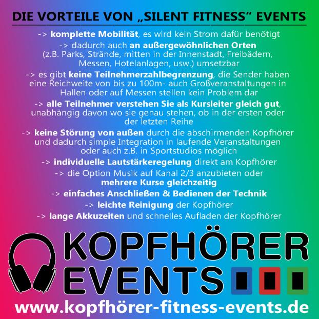 Kopfhörerfitness, Kopfhörer Fitness, Silent Fitness, Silent Fitness Kopfhörer, Silent Fitness Equipment, Silent Fitness mieten, Kopfhörer mieten, Silent Fitness Kopfhörer kaufen, Silent Events, Fitness