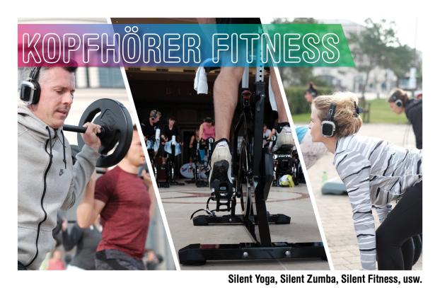 Silent Fitness, Silent Disco Yoga, Silent Spinning, Silent Zumba, Silent Sunset Yoga