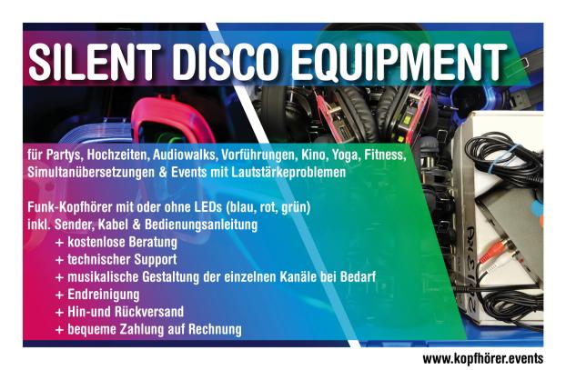 Silent Disco Berlin, Kopfhörerparty Berlin, Silent Party Berlin, Silent Disco mieten Berlin